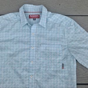 Simms Shirts - Simms Fishing Shirt Button Down M Lightweight Blue